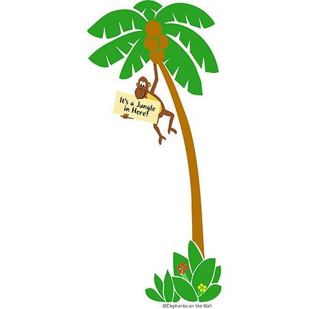 Elephants on the Wall E 5-1158 Monkey in a Tree - Paint It Yourself