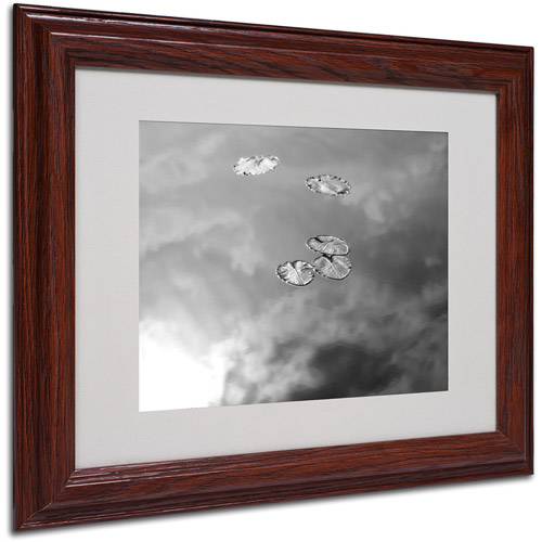 "Trademark Fine Art ""Lily Pads & Sky"" Matted Framed Art by Patty Tuggle, Wood Frame"
