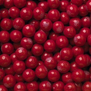 "Very Cherry 1"" Gumballs 2lbs Bulk Dubble Bubble"