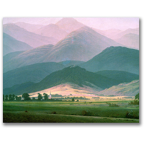 "Trademark Fine Art ""Landscape in the Riesengebirge"" Canvas Wall Art by Caspar Friedrich"