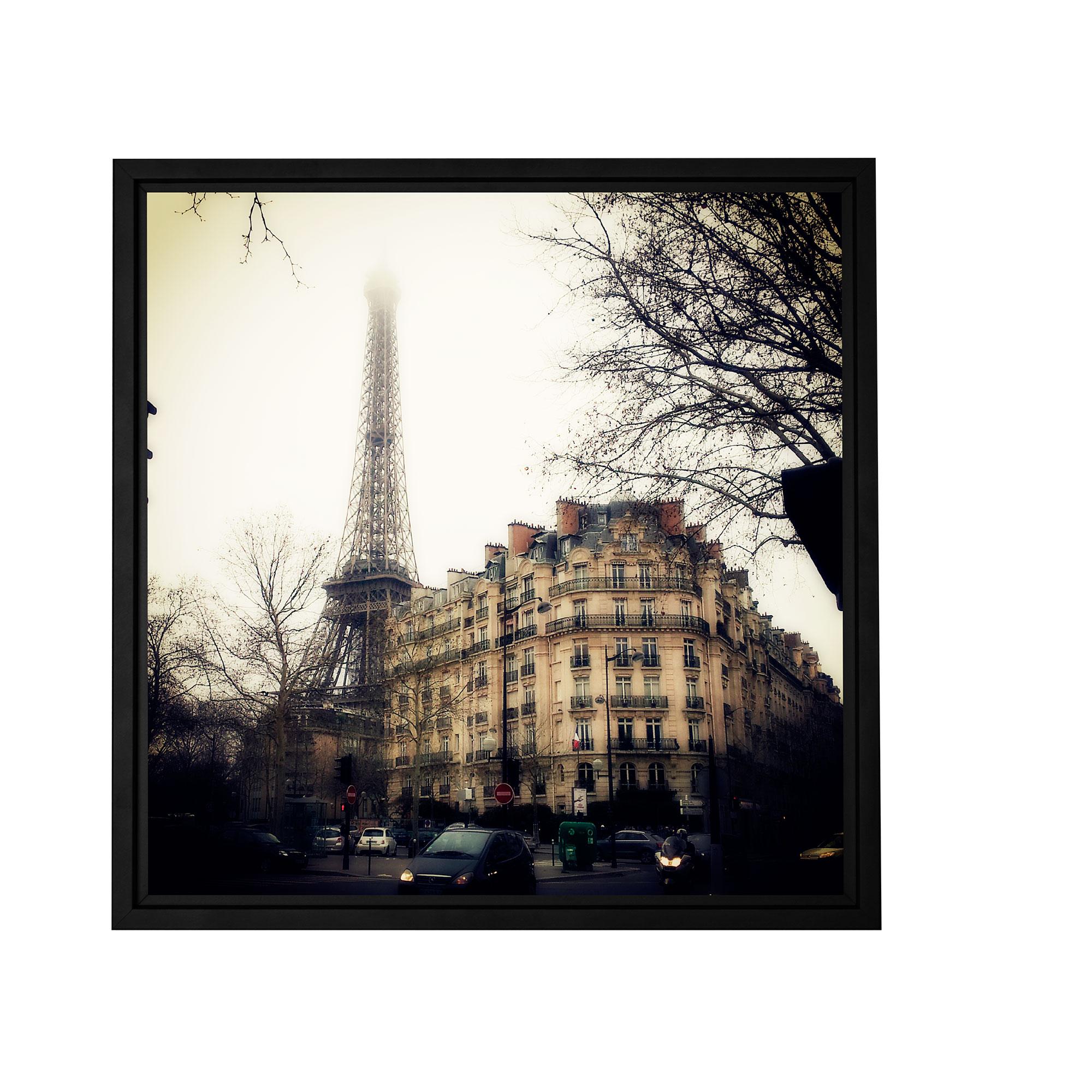 Paris Vintage' Gallery Wrapped Floater-framed Canvas Art Print