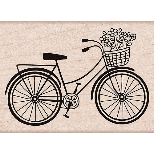 Hero Arts Mounted Rubber Stamps 4 Inch X 1 Inch-Bicycle