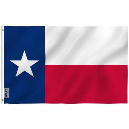 ANLEY [RipProof Series] 3x5 Foot Texas State Flag - Rip Proof Technology for Longest Lasting - 300 Denier Tough Textile - Texas TX Flags with Brass Grommets 3 X 5 Ft Boise State Broncos Flag