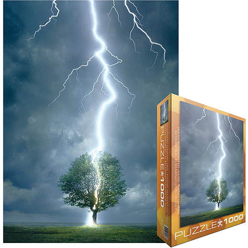 Lightning Striking Tree Jigsaw Puzzle, 1000 Pieces by Generic