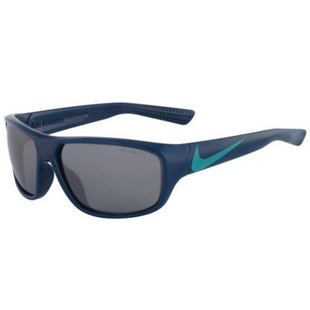 Nike Mercurial EV0887-403 Blue Frame Grey Silver Lens Junior Sunglasses Blue Full Rim Rectangular Nylon Sunglasses by NikePolycarbonate Scratch Resistant Grey Silver Flash Lenses100% UVA and UVB ProtectionSoft rubber inlay nose pads & temple tips improve comfort, grip and stabilityEye Size â Bridge Size â Temple Size: 60-14-120