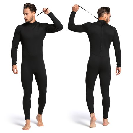 Men's 2mm Back Zip Full Body Wetsuit Swimming Surfing Diving Snorkeling Suit (Best Wetsuit For Body Surfing)