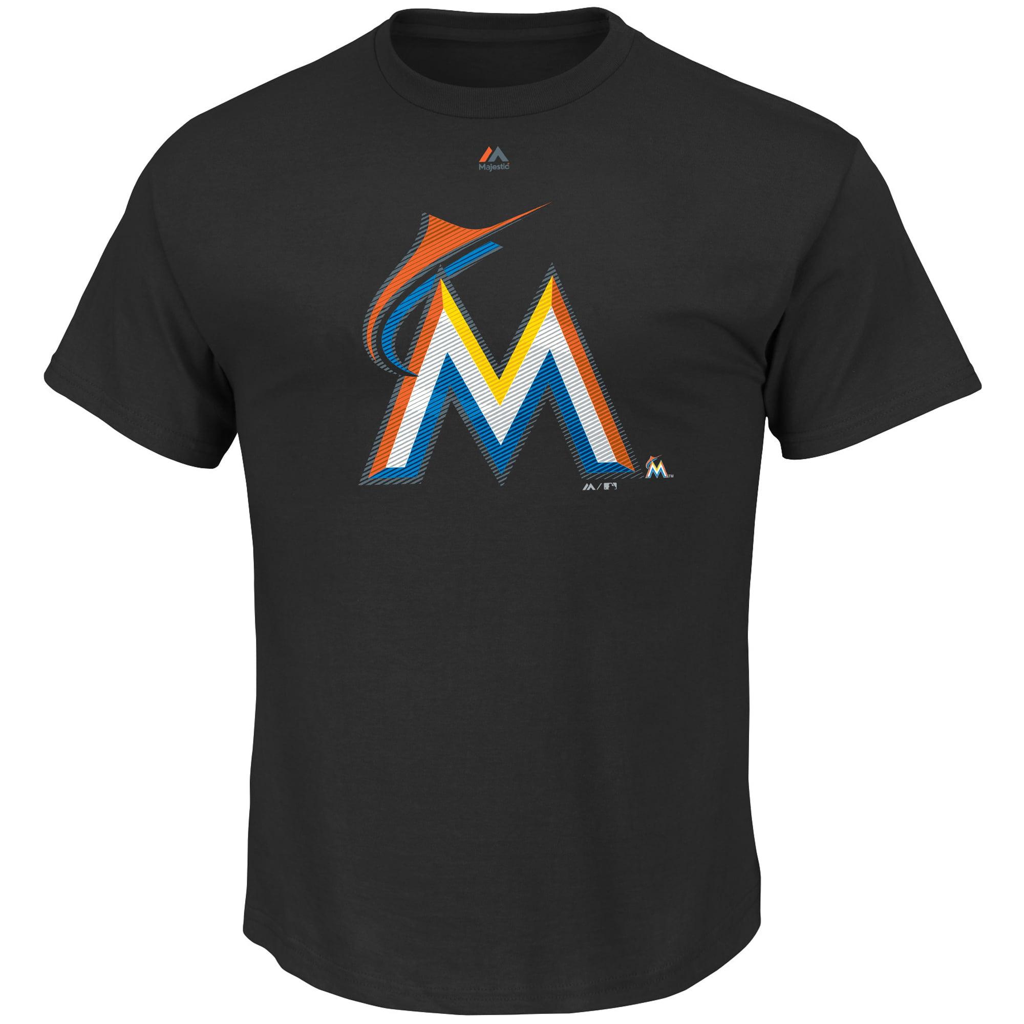 Miami Marlins Majestic Big & Tall Superior Play T-Shirt - Black