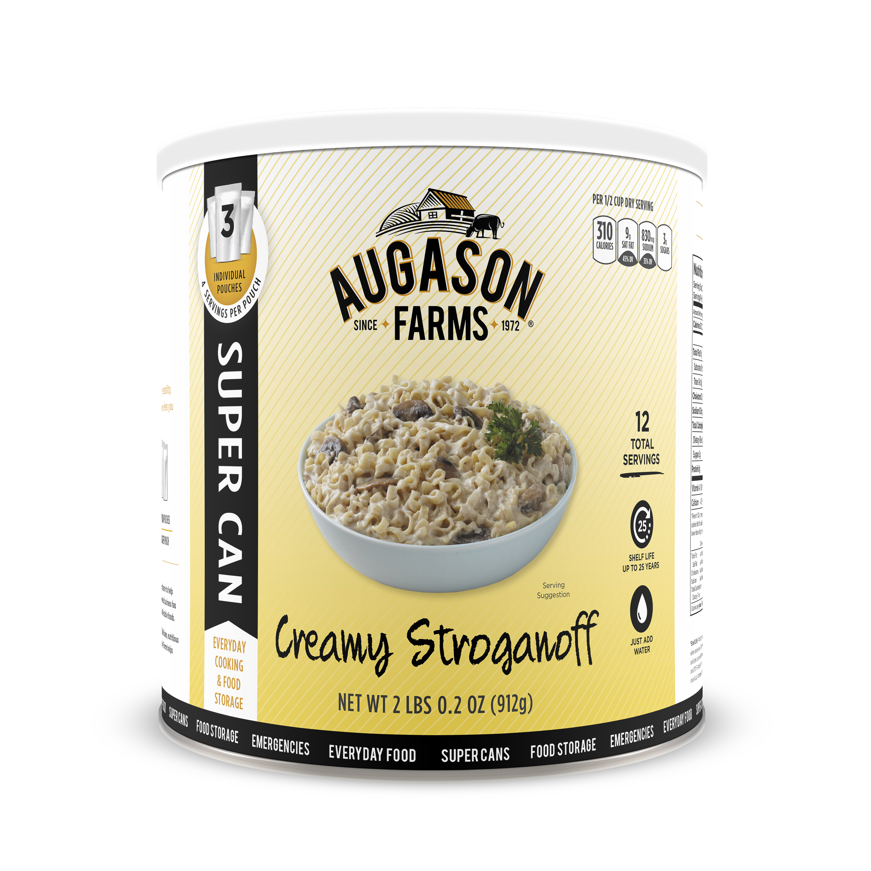 Augason Farms Creamy Stroganoff 2 lbs 0. 2 oz No. 10 Super Can