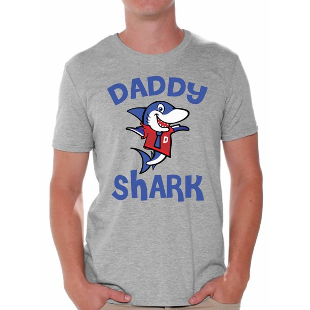 Awkward Styles Daddy Shark Tshirt for Men Shark Family T Shirt Matching Shark Shirts for Family Shark Gifts for Dad Shark Themed Party Outfit for Dad Shark Dad T-Shirt