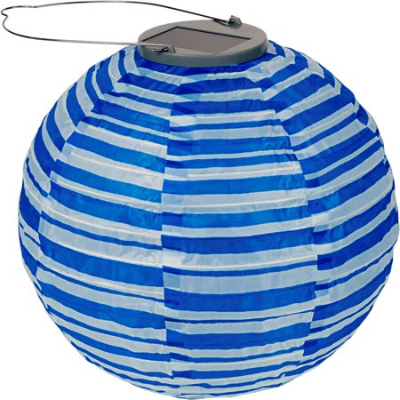 UPC 035286315838 product image for GlOW Solar Lantern, Blue Stripe Print | upcitemdb.com