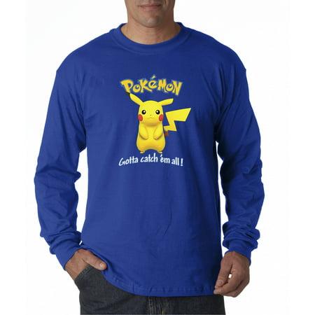 New Way 562 - Unisex Long-Sleeve T-Shirt Pokemon Go Gotta Catch 'Em All