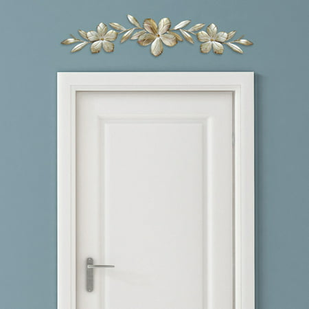 Stratton Home Decor Champagne Flower Over the Door Wall -