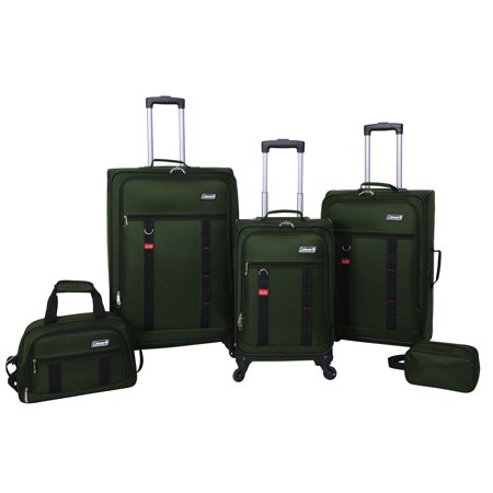 Coleman utility 5 piece spinner luggage set