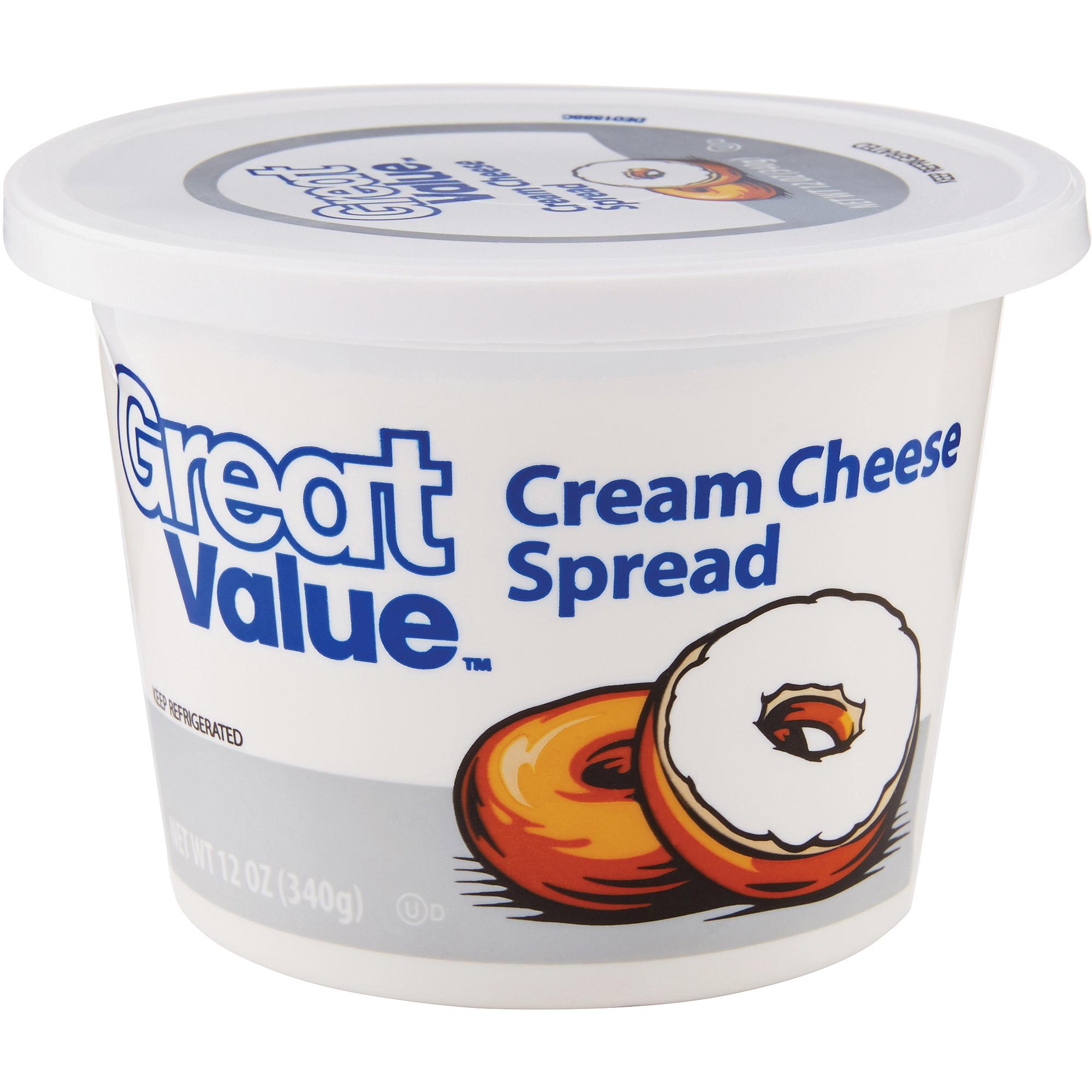 Great Value Cream Cheese Spread, 12 oz