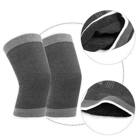 TOPINCN Le coton a tricoté les genouillères sportives chaudes élastiques de basket-ball de football de volley-ball en cours d'exécution de soutien de genoux, enveloppe de genou, appui de genou - image 2 de 8