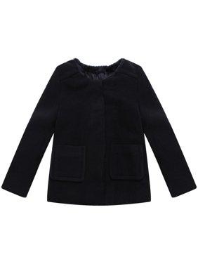 Little Girls Black Pockets Sweet Jacket 3