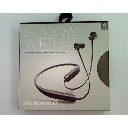 Refurbished SOL REPUBLIC Shadow Wireless In-Ear Headphones-Black/Silver (Solo Republic Wireless Headphone)