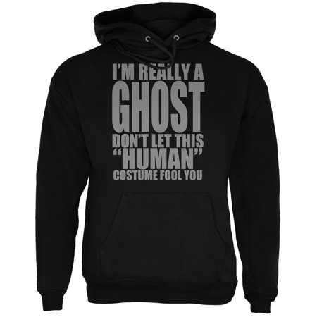 Halloween Human Ghost Costume Black Adult Hoodie