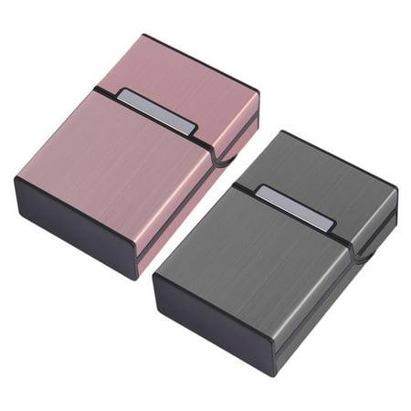 Light Aluminum Cigarette Cigar Case Pocket Box Container Storage Holder (Sequin Cigarette Holder)