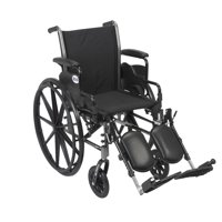 """Drive Medical Cruiser III Light Weight Wheelchair with Flip Back Removable Arms, Desk Arms, Elevating Leg Rests, 20"""" Seat"""