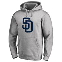 San Diego Padres Secondary Color Primary Logo Pullover Hoodie - Ash