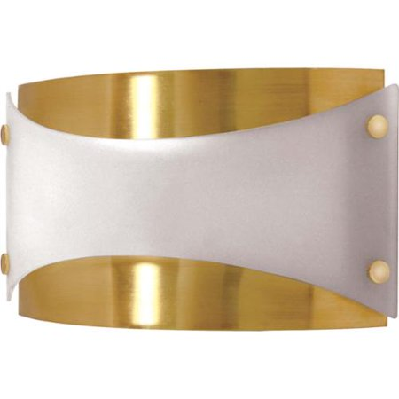 Nuvo 60/939 Contemporary Bath Lighting 12in Brushed Brass Frosted 1-light