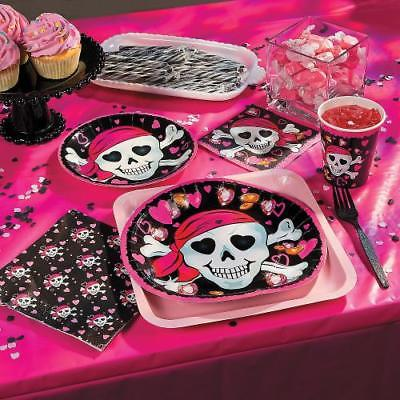 IN-70/42390 Pink Pirate Girl Party Supplies 1 Set(s)