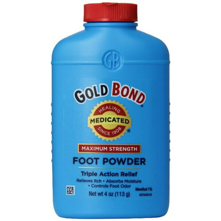 Gold Bond Foot Powder Medicated Maximum Strength 4 oz (Pack of 2)