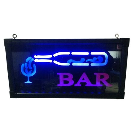 Bar with Bottle and Cup Sign with Electrical adapter; Product Size: Width