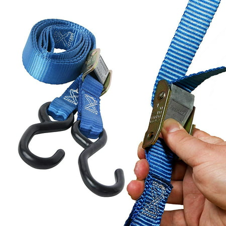 "2 Motorcycle Kayak Tie-Down Cam Straps 1"" x 9"