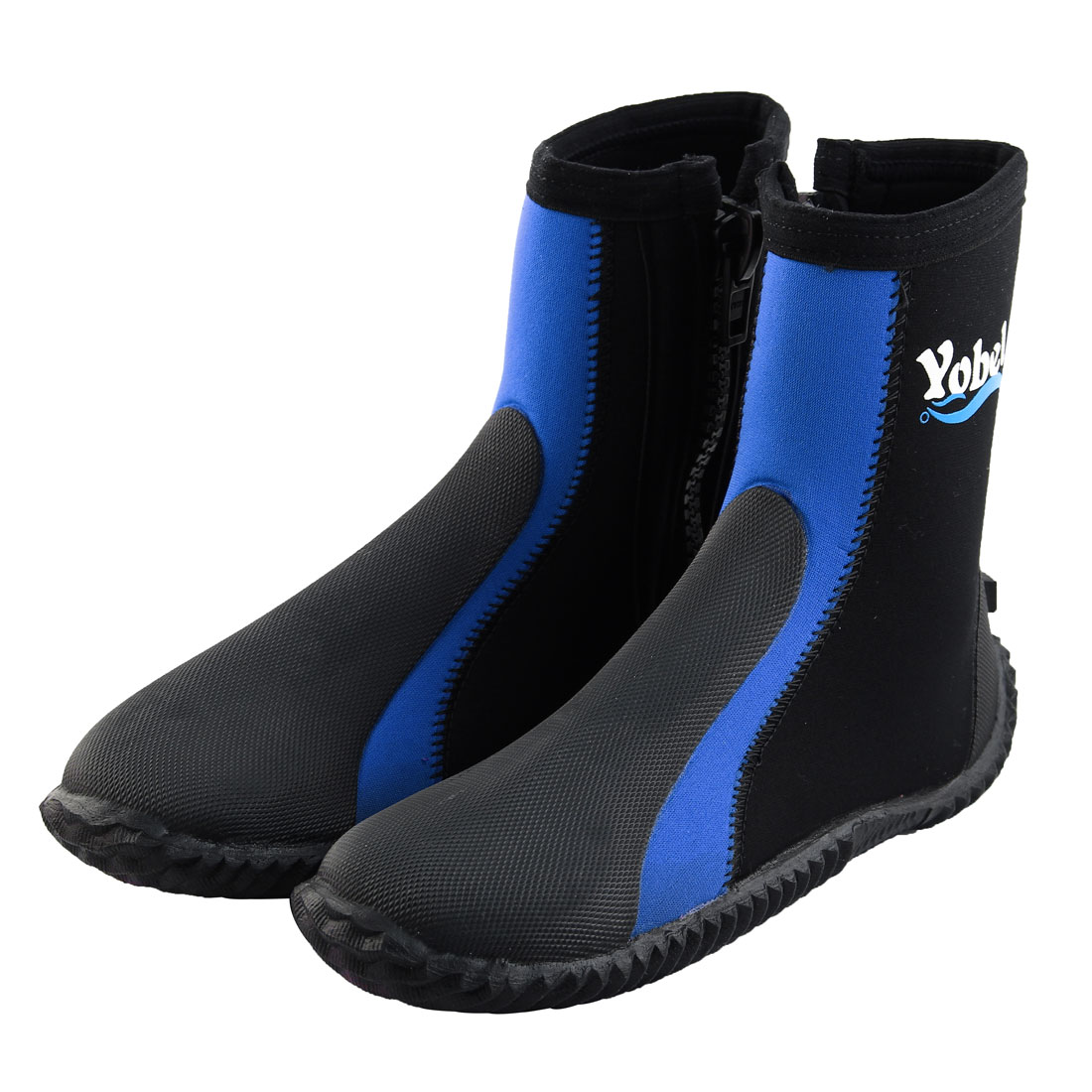 Outdoor Diving Surfing Beach Winter Swimming Anti-slip Wetsuits Water Shoes Boots US 6 Pair Blue by Unique-Bargains