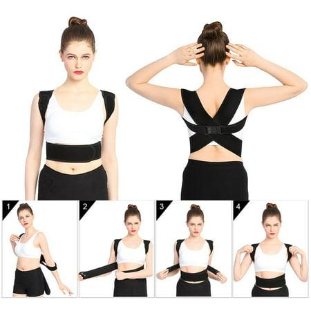 WALFRONT Upper Back Shoulder Spine Posture Correction Support Belt Posture Correction For Men Women, Lumbar FRixed Back Correction Belt for Training Back Muscles and Effective Neck Pain