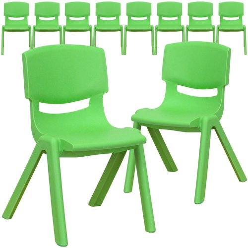 Flash Furniture 12'' Plastic Classroom Chair (Set of 10)