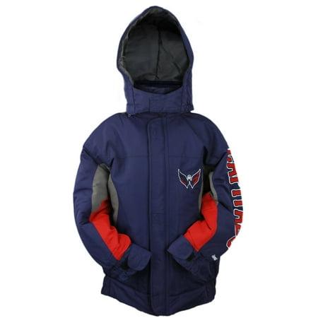 Reebok Weights (Reebok NHL Youth Washington Capitals Full Zip Hooded Mid Weight Jacket, Blue )