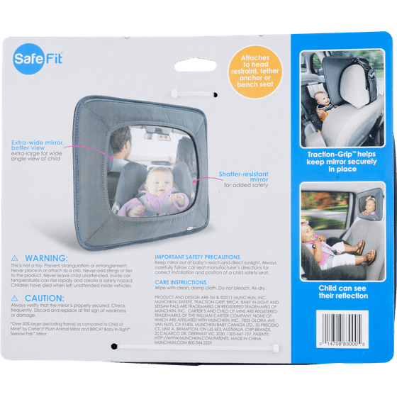 Safe Fit Baby Auto Mirror, 1 0 CT - Walmart com