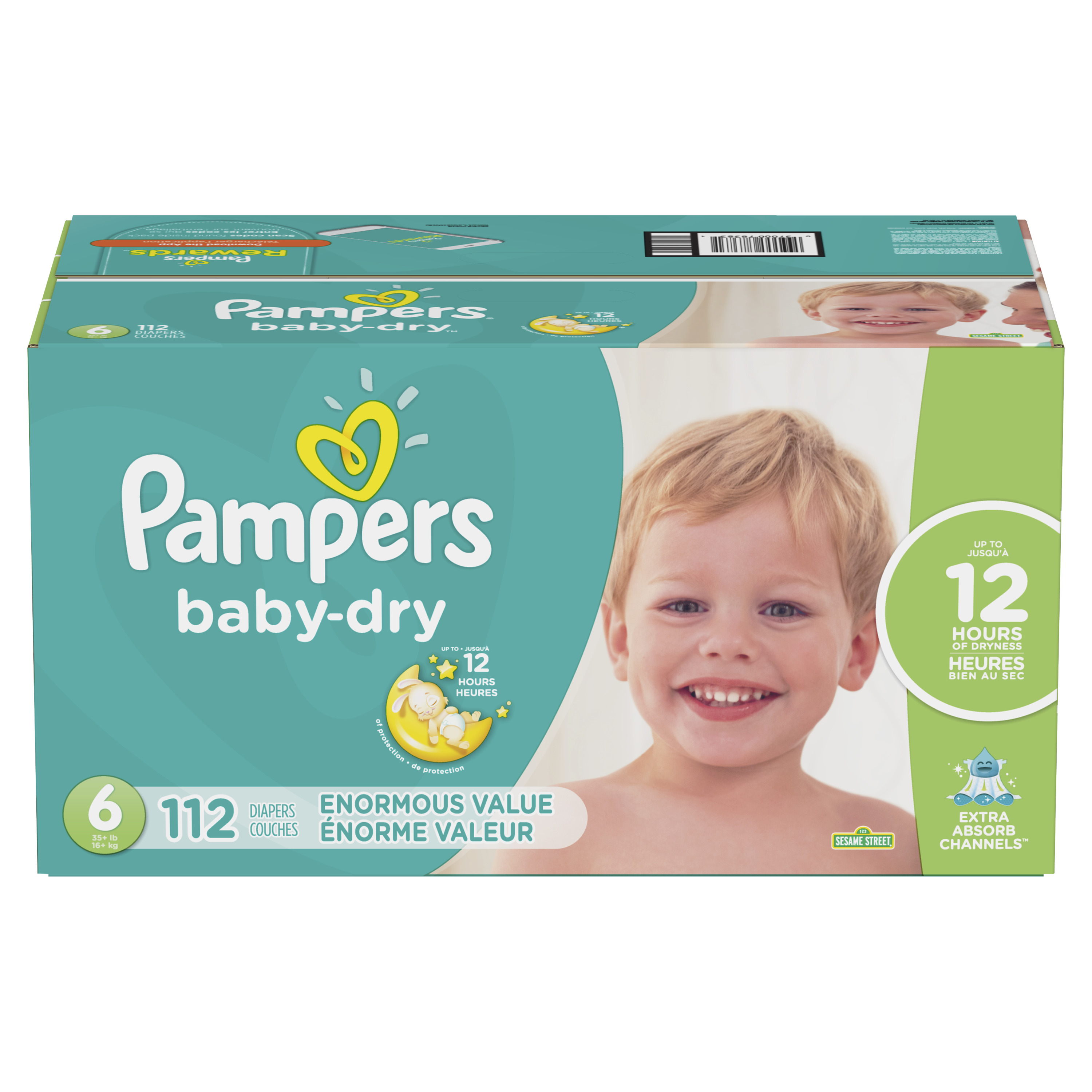 12164d75439 Pampers Baby Dry Diapers Size 6 112 Count - Walmart.com