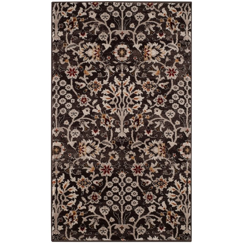 "Safavieh Serenity 3'3"" X 5'3"" Power Loomed Rug in Brown and Creme - image 4 de 4"