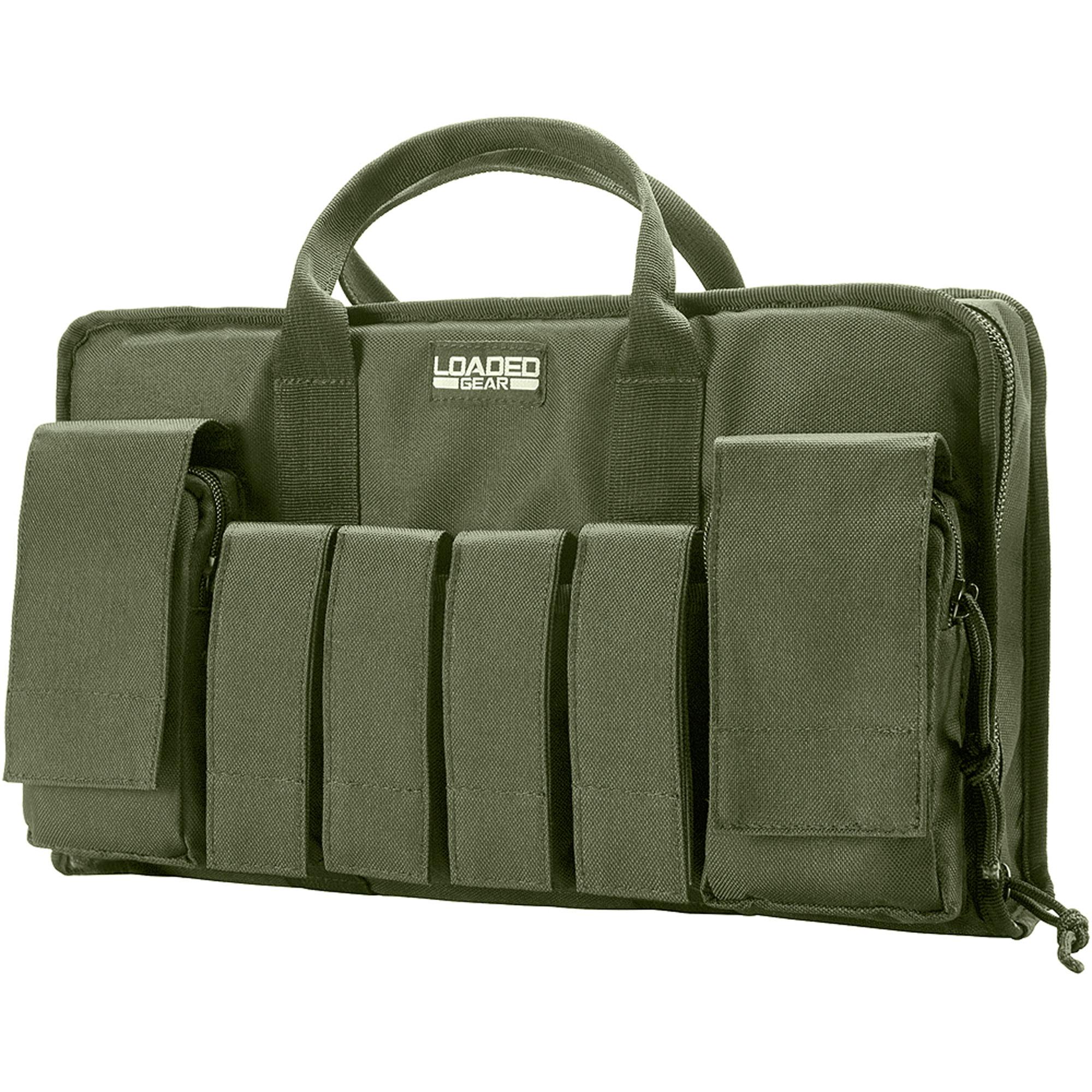 "Barska Loaded Gear RX-50 16"" Tactical Pistol Bag, Green"