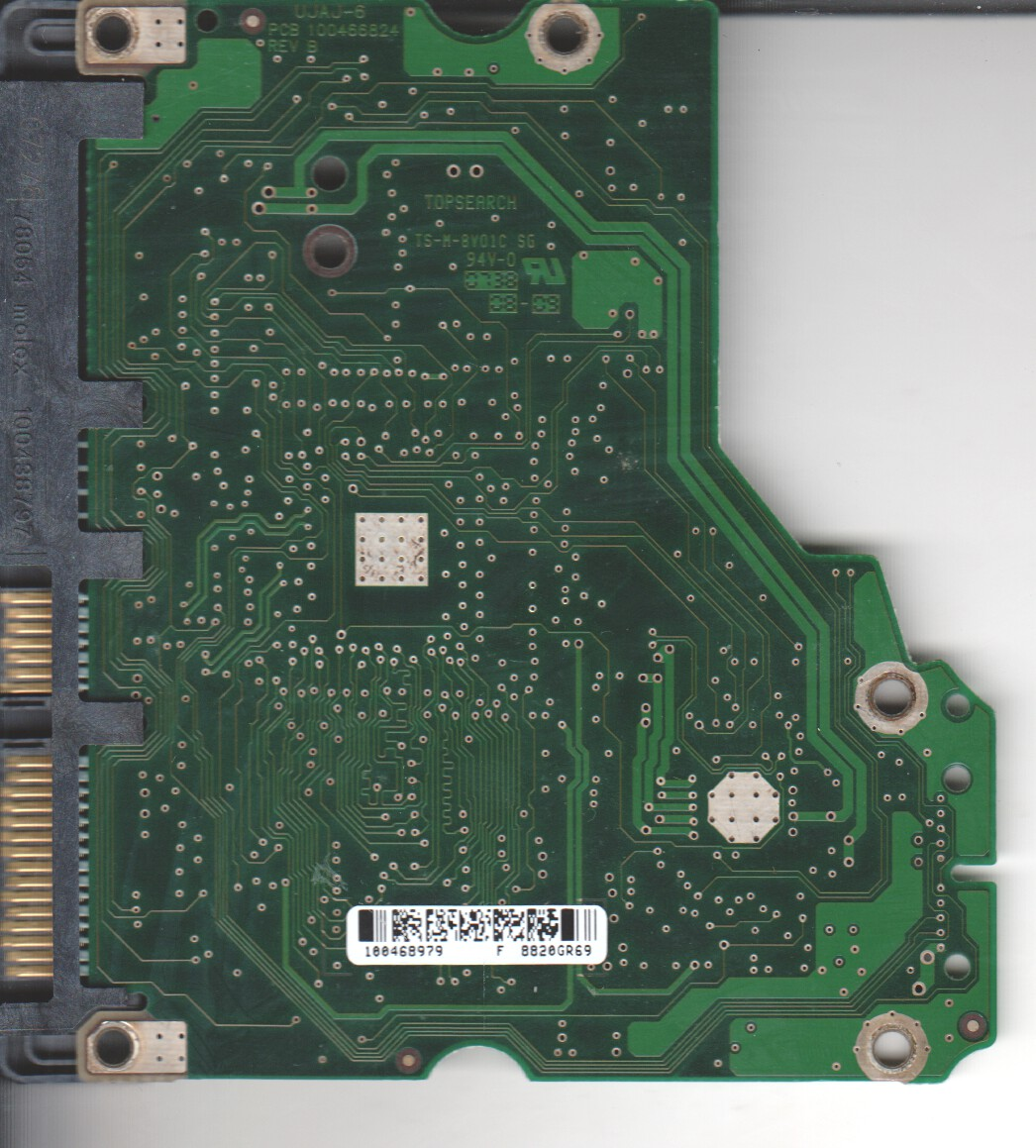 ST31000340AS, 9BX158-568, SD35, 100468979 F, REV B, Seagate SATA 3.5 PCB