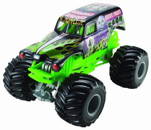 Hot Wheels Monster Jam Grave Digger Die-Cast Vehicle, 1:24 Scale by Hot Wheels