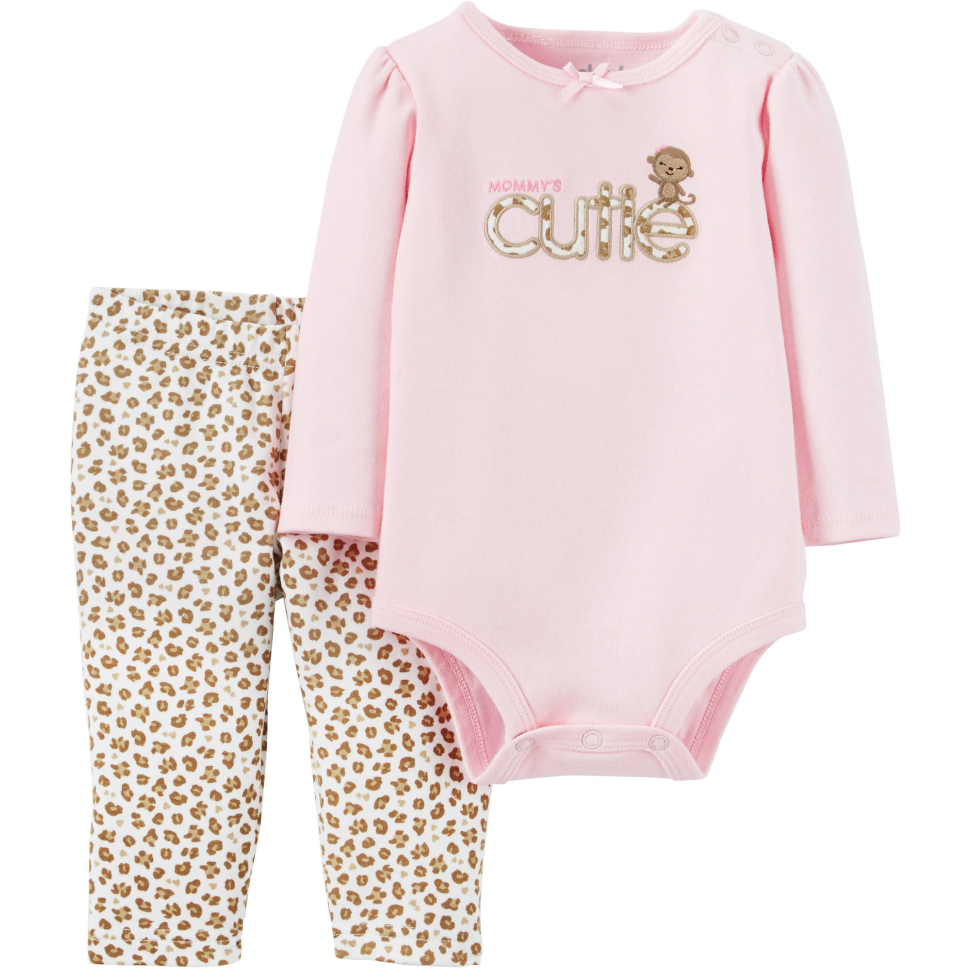 Child of Mine by Carter's Newborn Baby Girl Bodysuit And Pant Outfit Set