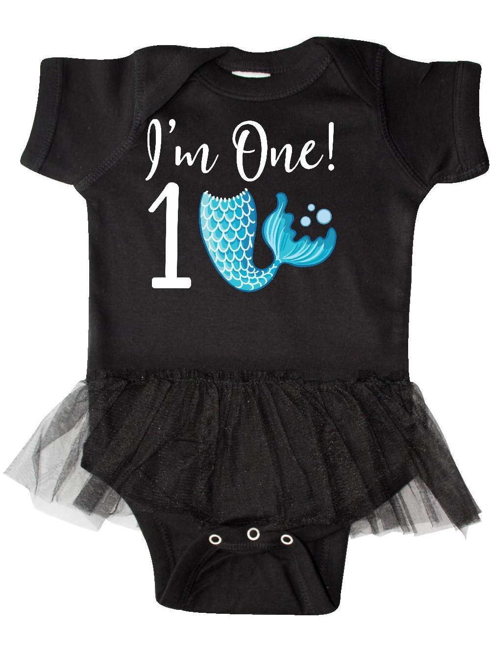 Inktastic 1st Birthday Mermaid Party Baby Bib One 1 Year Old Im Tail Cute Photo
