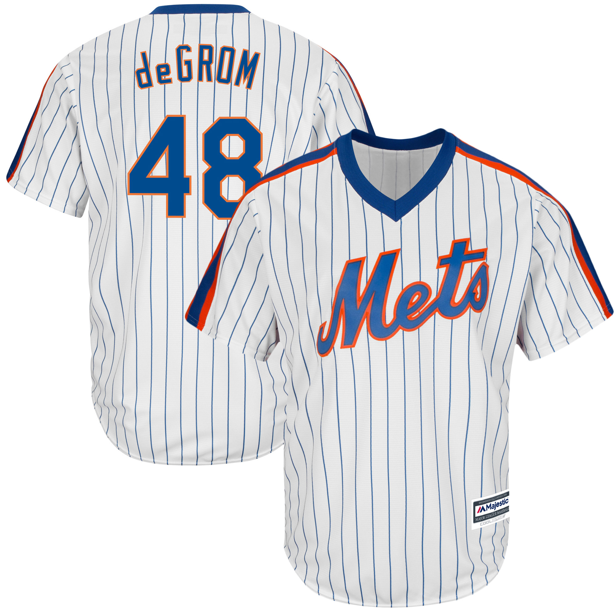 Jacob deGrom New York Mets Majestic Official Cool Base Player Jersey - White