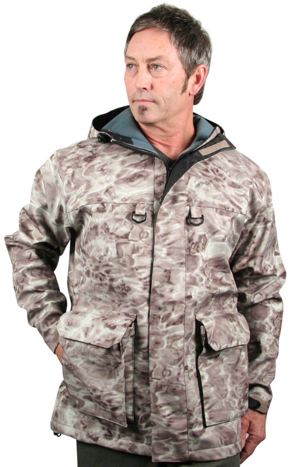 Aqua Design Men Stormshield Insulated Fishing Hunting Pro DWR Water Camouflage Wading Rain Coat Jacket by Aqua Design