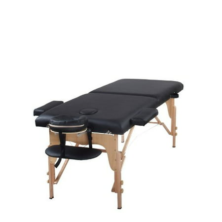 The best massage table two fold black portable massage table pu leather high quality - Portable massage table walmart ...