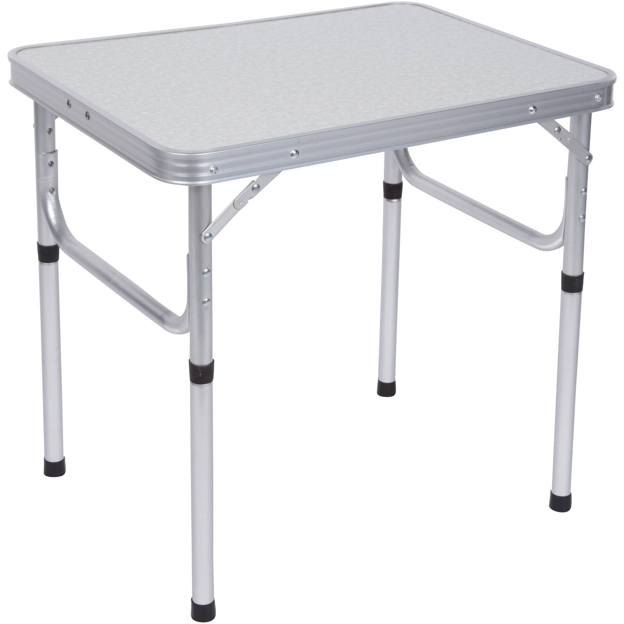 Aluminum Adjustable Portable Folding Camp Table With Carry Handle By Trademark Innovations by Trademark Innovations