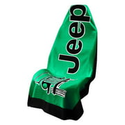 Seat Armour - GREEN Seat Protector Towel Cover With Jeep Logo T2G100G
