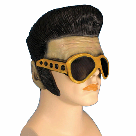 Elvis Presley Mask And Sunglasses Sideburns Hair Wig King Of Rock And Roll Vegas (King Wig)