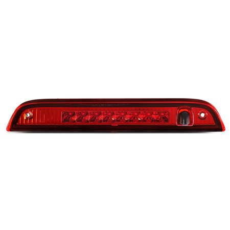 For 2007 to 2017 Jeep Patriot Full LED 3rd Third Tail Brake Light Rear Center Stop Lamp Red Housing 08 09 10 11 12 13 14 15 -