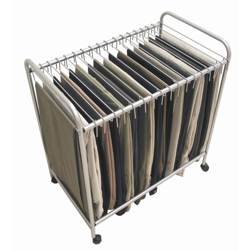 Storage Dynamics 28'' H x 15.75'' W x 25.4'' D Rolling Pants Trolley